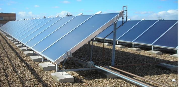 placas solares termicas calefaccion edificios 2019