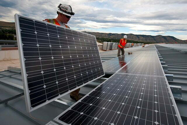 Instalacion placas solares en terraza